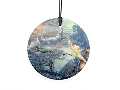 Trend Setters Disney – Peter Pan – Tinker Bell – Fly to Neverland – Starfire Prints Hanging Glass – Light Catching Hanging Décor – Ideal for Gifting and Collecting