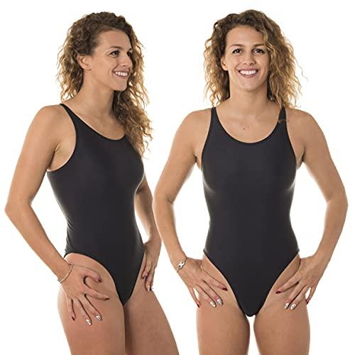 SWIMXWIN Costume Intero Donna olimpionico Nero Nuoto Sincronizzato Syncro Artistico Piscina (14Y)