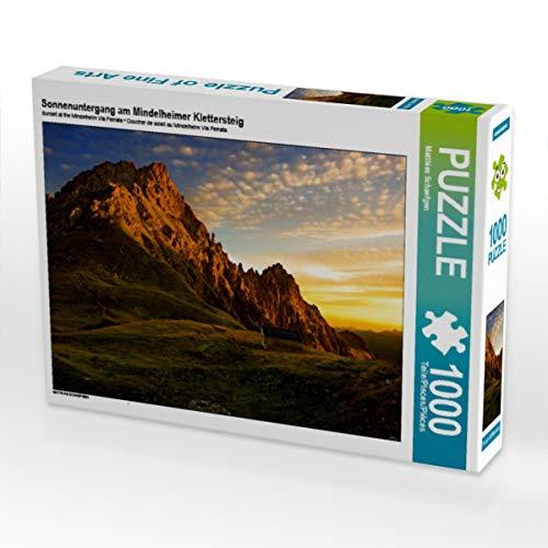 CALVENDO Puzzle Sonnenuntergang am Mindelheimer Klettersteig 1000 Teile Lege-Größe 64 x 48 cm Foto-Puzzle Bild von Matthias Schaefgen