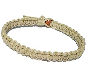 Natural Hemp Surfer Hawaiian Style Bracelet or Anklet - Handmade  8 inch Hemp Bracelet