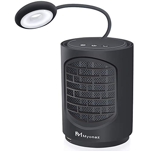 Myonaz Pro 4 In 1 Mini Space Fan Heater with Natural Wind and Heat Reading Desk Light, Portable Fan Heater Suitable for Office & Home(Black)