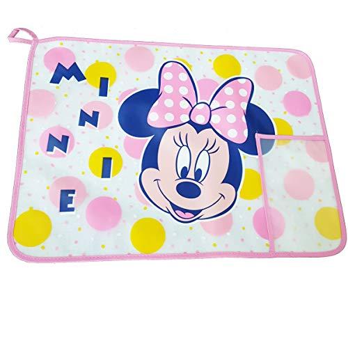 Placemats PEVA Multiuso met voorvak en achterkant van badstof personaliseerbaar Minnie.