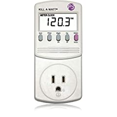 Choose from the Kill-a-Watt's four settings to monitor your electrical usage Monitor your electrical usage by day, week, month, or year Features easy-to-read screen Electricity usage monitor connects to appliances and assesses efficiency Large LCD di...