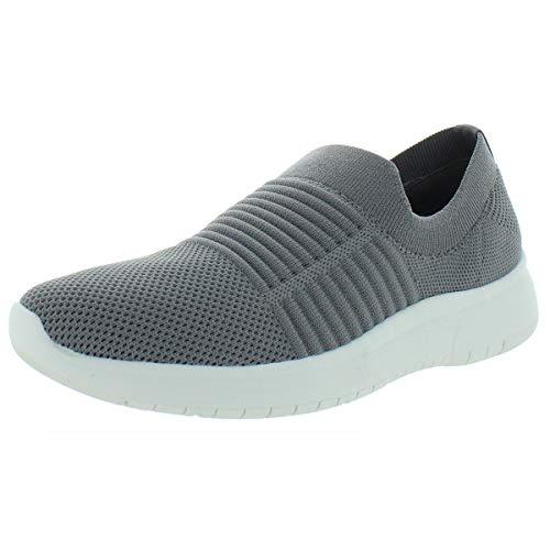 Blondo Women's Slip-ON Sneaker, Grey Knit, 9