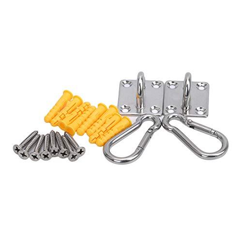 BCDZZ Acero inoxidable Swing placa fija giratoria hamaca placa fija colgante accesorio