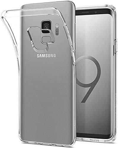 Captor Cover Trasparente per Samsung Galaxy S9, Custodia TPU in Silicone Flessibile Morbida e Sottile, Protezione Full Body con Bordo Rialzato per Schermo e Fotocamera