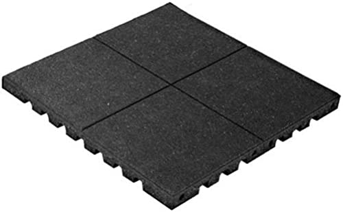 PlayFall 1.75 x 24 PlayGründ Safety Surfacing Rubber Tile in schwarz by KIDWISE