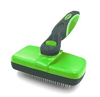 Brosse de toilettage Vaxuia Self Cleaning pour chien et chat (petits et grands) pour se débarrasser des poussières.