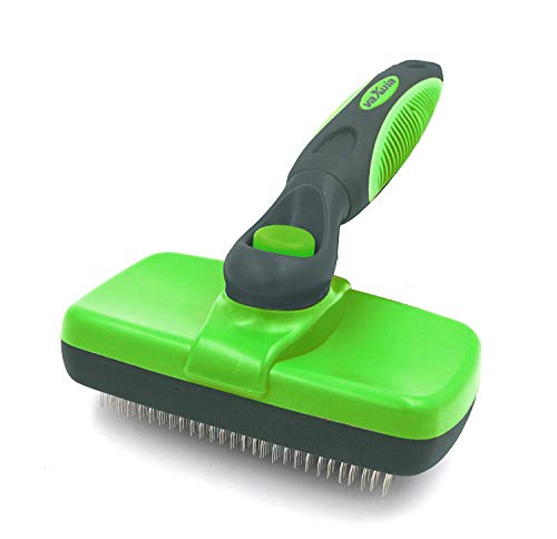 Photo de brosse-de-toilettage-vaxuia-self-cleaning-pour-chien-et