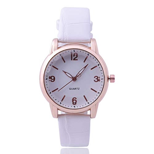 Sanwood Girls Women Faux Leather Band Numerals Scale Analog Round Dial...
