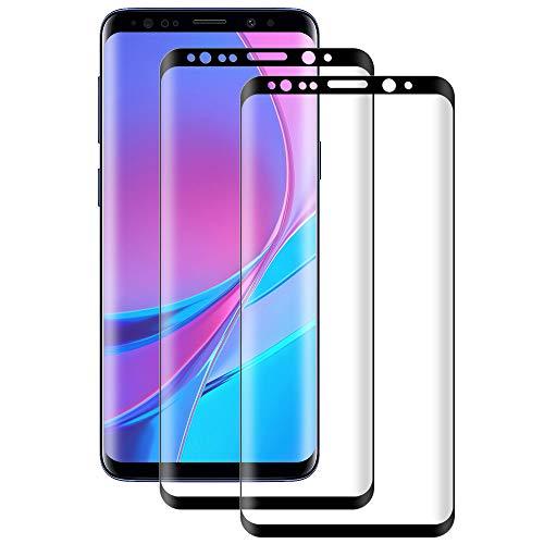 DOSMUNG Cristal Templado para Samsung Galaxy S8, [2 Pack] Vidrio Templado de Samsung Galaxy S8, Cobertura Completa/Dureza 9H/3D Curvado/Anti Dactilares y Arañazos Protector de Pantalla para Galaxy S8