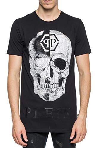 Philipp Plein Camiseta Negro Corte Cuello Redondo Talk