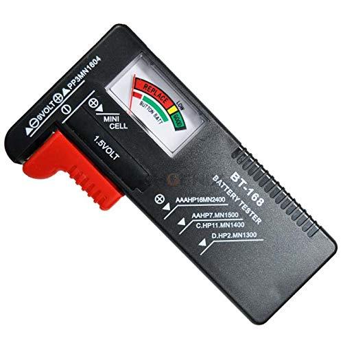 電池チェッカー バッテリーテスター 乾電池 電池 残量 テスター 1.2V 9V 測定 単1 単2 単3 単4 ボタン電池 アナログ 測定器 メーター 小型 軽量 防災 緊急