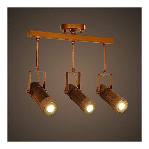 ZSAIMD Estilo retro 3 Jefes pendiente de la lámpara de techo ligero redondo de la vendimia Cuerpo de iluminación decorativa del accesorio de iluminación retro rústico antiguo Edison E27 Loft