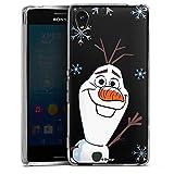 Silikon Hülle kompatibel mit Sony Xperia M4 Aqua Case Schutzhülle Disney Frozen Olaf Die Eiskönigin 2
