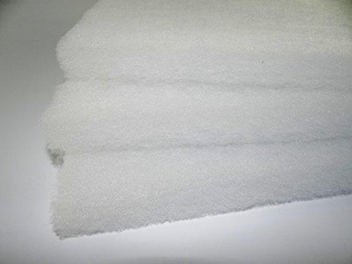 Universal Filtermatte 2m x 1m Filter Dicke ca. 25-35 mm (je nach Charge) ca. 300g/m² Vlies Filter Filtermedium Polyester Matte Filterwatte