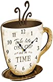 "Young's Wood Take Life Coffee Wall Clock, 13.75"",14098,Brown"