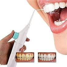 QERINKLE® Speed Dental Care Water Flosser Air technology Dental Cords Tooth Pick Power Floss Dental Cleaning Whitening Teeth Kit Power Floss Air Powered Dental Water Jet for Tooth Cleaner (White)