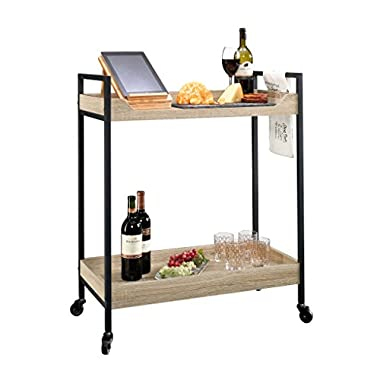Sauder 420043 Bar Cart North Avenue, Craftsman Oak