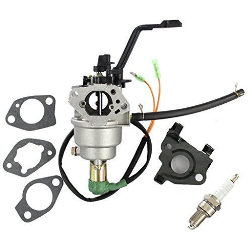 HURI Carburetor with Gasket Spark Plug for ETQ 420CC 7250 8250 Watt TG72B12 TG72B12CA TG72K12 TG8250 Gasoline Generator