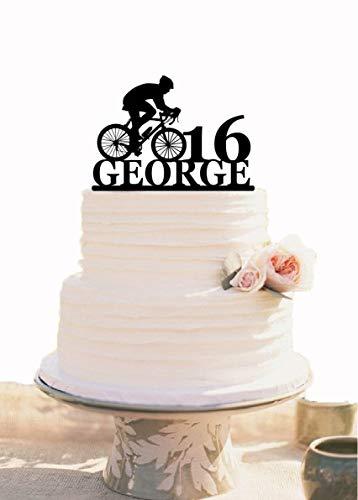Decoración para tarta de cumpleaños de ciclistas, decoración para tarta de bicicleta, decoración para tartas deportivas, decoración para fiestas de cumpleaños infantiles, cumpleaños o bicicleta
