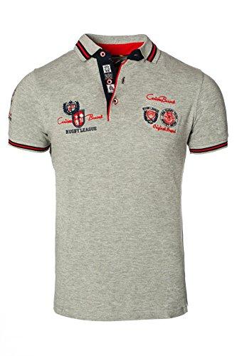 CARISMA Herren Polo-Shirt mit Stickerei (M, Grau)