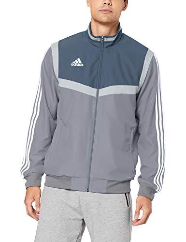 adidas Herren TIRO19 PRE JKT Sport Jacket, Grey/White, L