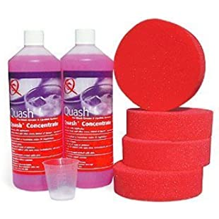 Quash Lipstick Remover Refill Pack 2 x 1ltr Concentrate +4 sponges/MeasuringCup by Quash:Maxmartyn