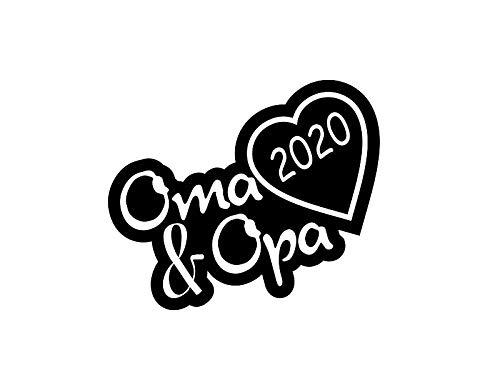 1 x 2 Plott Aufkleber Oma & Opa 2020 Sticker Familie Autoaufkleber Tuning Decal