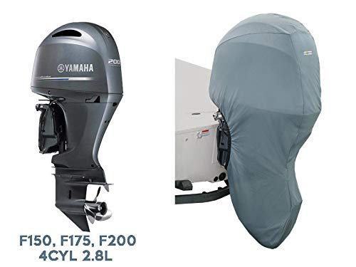 Oceansouth Custom Fit Full Outboard Storage Cover for Yamaha 4CYL 2.8L 175-200HP 25' Leg