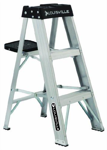 Louisville Ladder AS3003 Aluminum 3-Foot Ladder 300-Pound Duty Rating