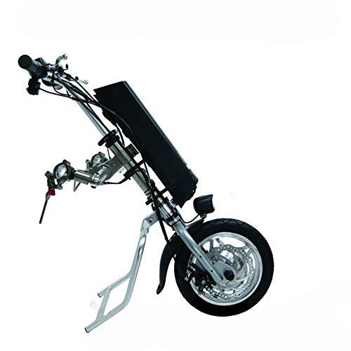 GMtes Elektro-Rollstuhl Traktor Handcycle Handbike DIY Elektro-Rollstuhl-Umrüstsätze Antriebskopf für Behinderte Auto,11.6Ah