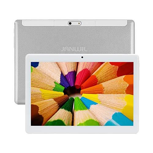 JANWIL Tablet 10 Pulgadas Android 10.0 Quad-Core RAM 4 GB ROM 64 GB 8000 mAh Akku Kamera 5 MP 8 MP WLAN GPS Typ-C Dual-SIM-Karte Lamada 3G Tablet