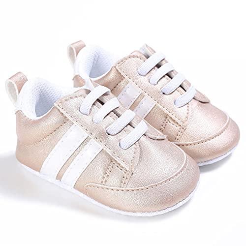 WXDC 0-18 Meses Zapatos Deportivos de Cuna para bebés, niñas y niños pequeños, Zapatillas de Deporte Casuales para recién Nacidos con Cordones para niños y bebés Unisex