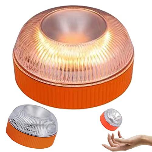 dfff GirarYou Luces de Advertencia de Emergencia V16 Homologadas Lámpara Señales Luminosas Multifuncional Luz de Seguridad Luz LED de Emergencia para Coche Vehículos Carretera,Naranja