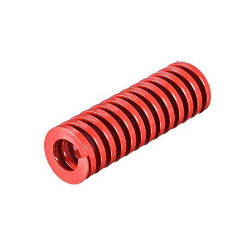 20 mm OD 60 mm lang Spirale Prägung Kompressionsform für mittlere Belastung, Rot, 1 Stück