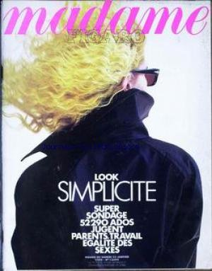 MADAME FIGARO [No 13499] du 23/01/1988 - LOOK SIMPLICITE - ADOS ET PARENTS.
