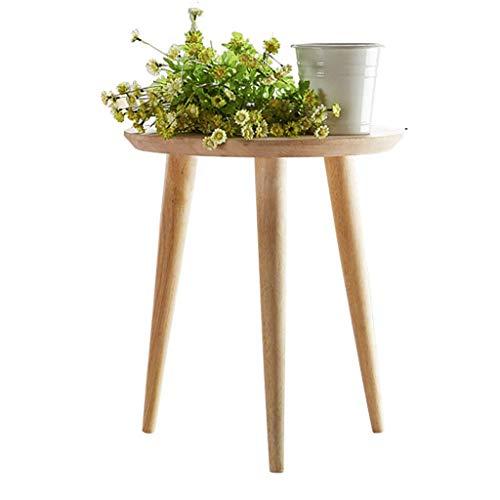 YLCJ nachtkastjes nachtkastje of woonkamer Bijzettafel/Bijzettafel - Ronde tafel 3 bamboe poten