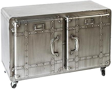 auf Rollen L.80 cm anthrazit//silb.,m Casablanca Si Deboar D Factory Met. 2 T/üren,nostalg.Design