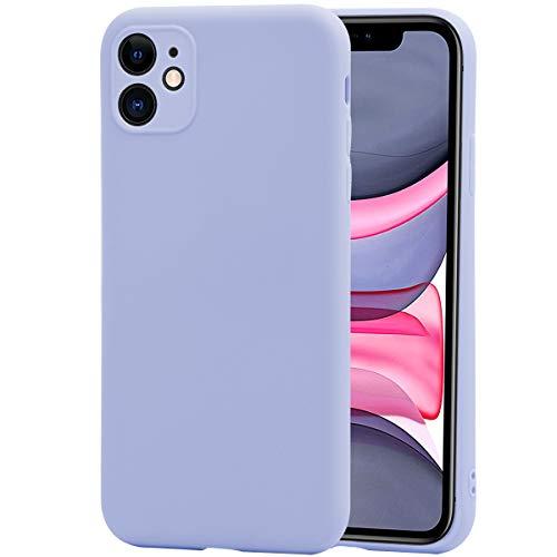 Cover per iPhone 11 + Pellicola Protettiva, Weideworld Ultra Sottile Morbida in Siliconata [Protezione Fotocamera] Custodia per iPhone 11 6.1'', Viola