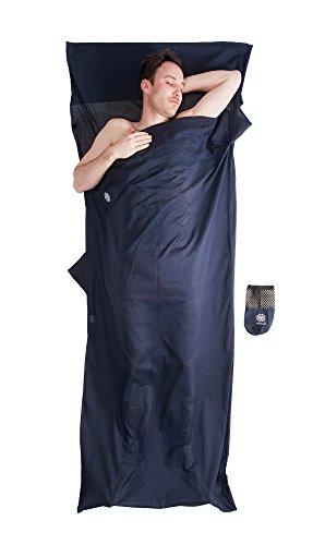 Bahidora Hüttenschlafsack Baumwolle (nur 270g), Schlafsack Inlett Baumwolle, Schlafsack Inlay ägyptische Baumwolle, Reiseschlafsack. Ideal für Hostels, Berghütten und Jugendherbergen (dunkelblau)