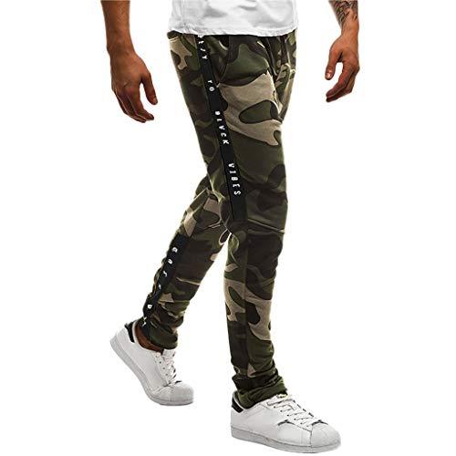Panty's, joggingbroeken, brede broeken, broeken voor mannen, camouflage, vrije tijd, tas, sport, werk, vrije tijd, broek Large legergroen