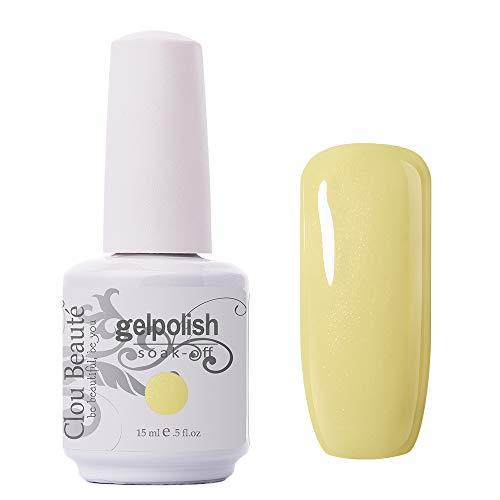 Clou Beaute Gelpolish 15ml Soak Off UV Led Gel Polish Lacquer Nail Art Manicure Varnish Light Yellow 11251