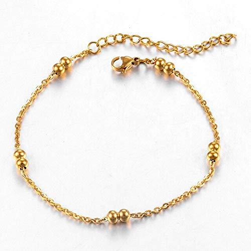 Kdyi Pulsera de Personalidad de Moda Cadena de Acero Inoxidable para Mujer de Oro