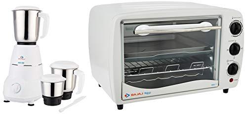 Bajaj Rex 500-Watt Mixer Grinder + Bajaj Majesty 1603 T 16-Litre Oven...