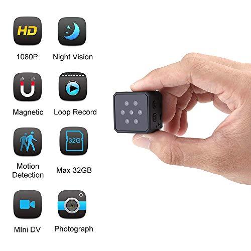 SHHENGSHIYUJIA Mini Spy versteckte Kamera, versteckte Kamera 1080P HD Indoor Home Security Überwachungskameras Camcorder mit Nachtsicht-Bewegungserkennung