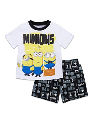 Despicable Me Minions Toddler Boys T-Shirt and French Terry...