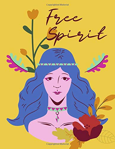 Free Spirit Boho Girl Cover Sketch book For Drawing, Doodling, Sketching | 120 pages | 8.5x11