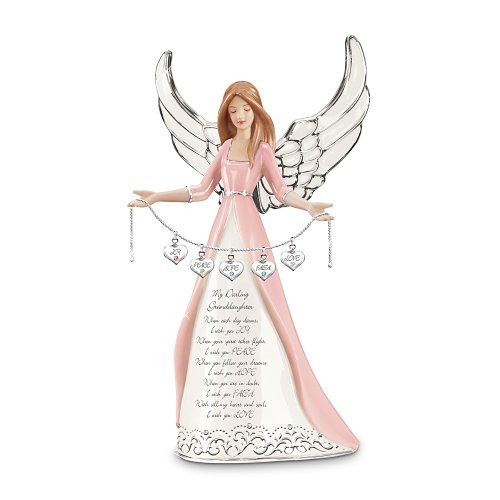 The Bradford Exchange Darling Granddaughter  I Wish You Collectible Angel Figurine Gift