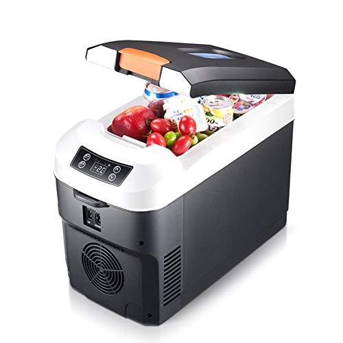 Kimmyer Hochwertiger 12V / 24V / 220V Kühlschrank mit Gefrierfach, 10 Liter Dual-Core-Kühlschrank für PKW, LKW und Privathaushalte